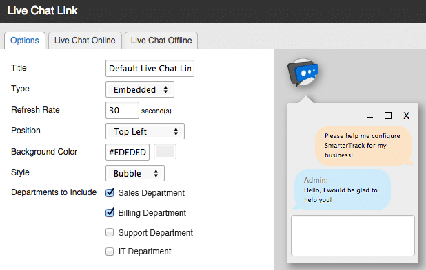 SmarterTrack Live Chat Widget